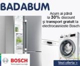 Badabum – reduceri la electrocasnicele Bosch plus vouchere de 300 de lei