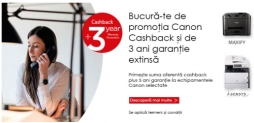 Cashback si 3 ani garantie la imprimante si multifunctionale Epson