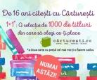 1+1 gratis la 1000 de carti in romana la Carturesti
