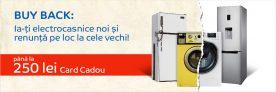 Buy Back la electrocasnicele vechi de până la 250 lei plus reduceri de pănă la 45% – Emag!