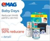 Baby Days și alte 2 campanii de reduceri la Emag