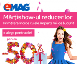 Emag – Mărțisorul reducerilor și Electronic days