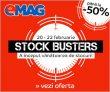 Stock Busters la Emag cu până la 50% reducere