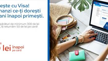 Emag – plateste cu Visa si primesti 50 de lei inapoi