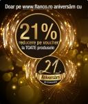 21% reducere aniversara la Flanco!