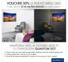 30% voucher la televizoarele QLED