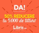 Peste 5000 de carti cu 50% reducere la Libris – doar azi!