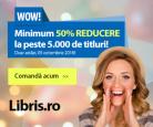 Reducere de minim 50% la peste 5.000 de carti doar azi la Libris