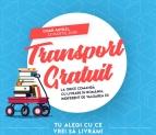 Transport gratuit la Libris doar azi!