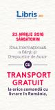 Transport gratuit la orice comandă de Ziua Cărții – Libris