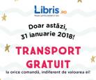 Libris – transport gratuit la orice comandă – doar azi!